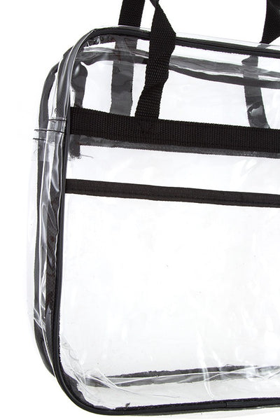 Clear mini square shoulder bag