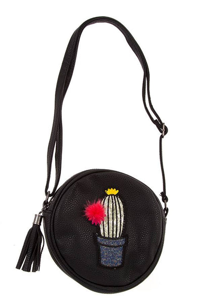 Cactus accent round shoulder bag