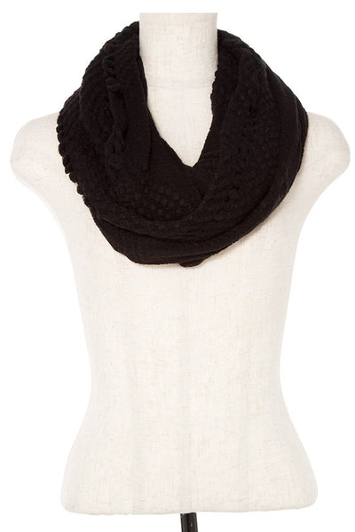 Open knitted infinity scarf
