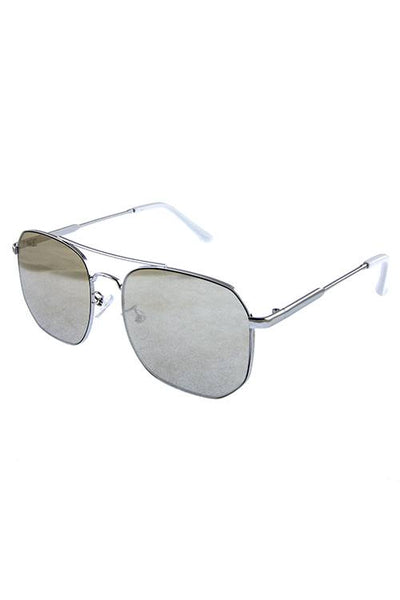 Womens box aviator rebar fashion sunglasses