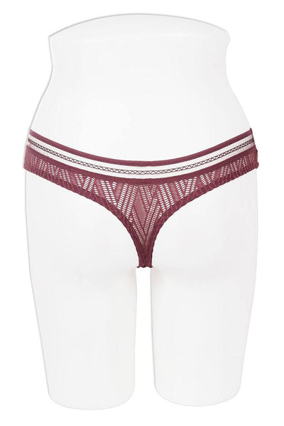 Pattern lace thong