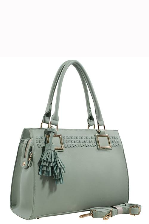 Designer Tote Bag With Tassel