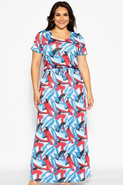 Camouflage Print, Ankle Length Maxi Dress