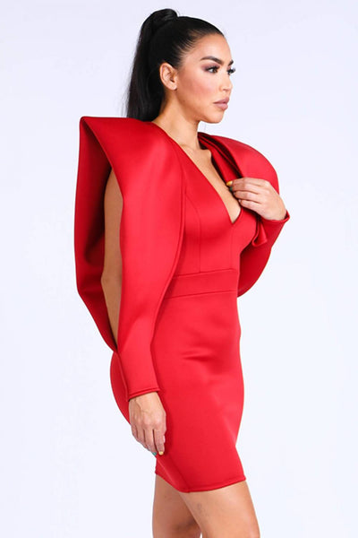 Super Shoulder Super Techno Dress