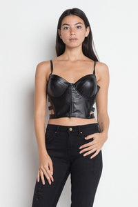 Strappy Cutout Cami Crop Top