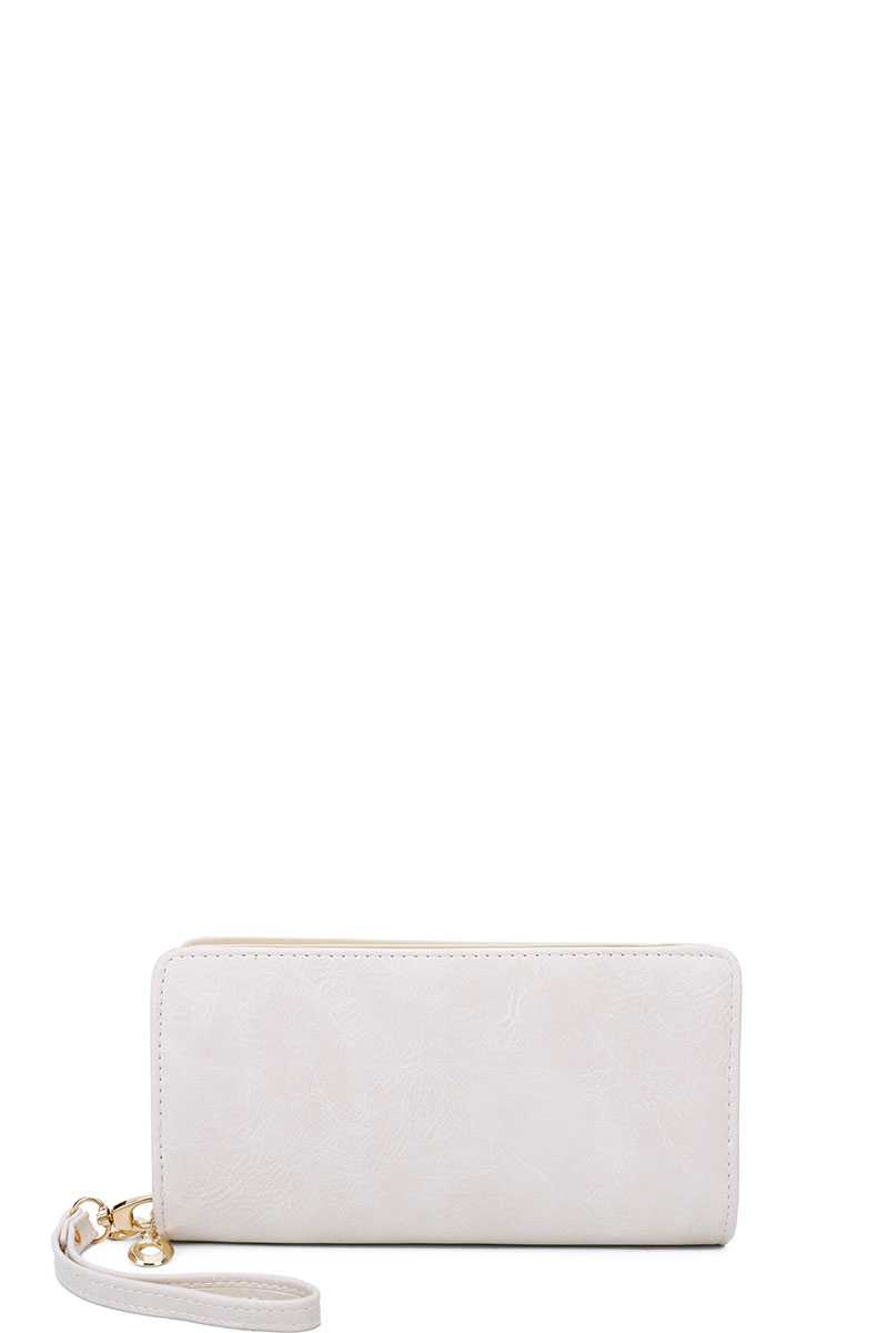 Designer Fashion Solid Color Wallet With Hand Strap