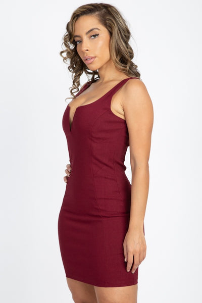 V Wire Sleeveless Mini Dress