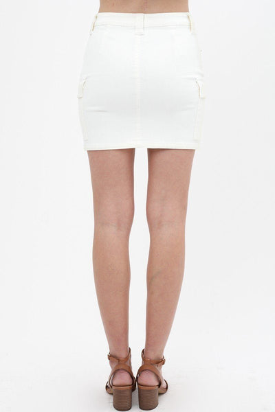 Cargo Cotton Span Mini Skirt