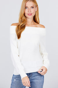 Off Shoulder Dolman Sleeve Sweater