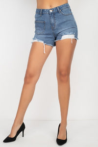 Heavy Distressed Raw Cut Shorts