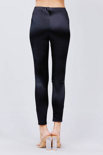 Waist Band Matt Satin Leggings