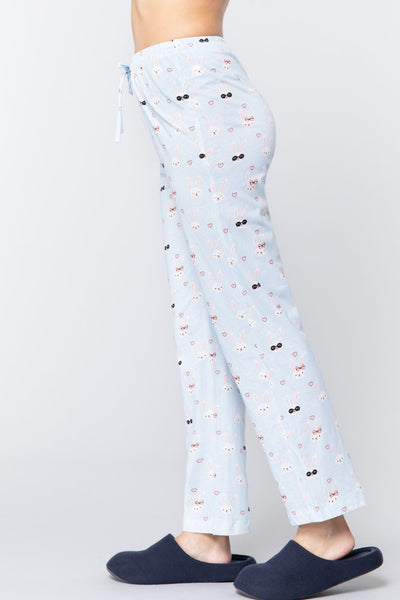 Rabbit Print Cotton Pajama