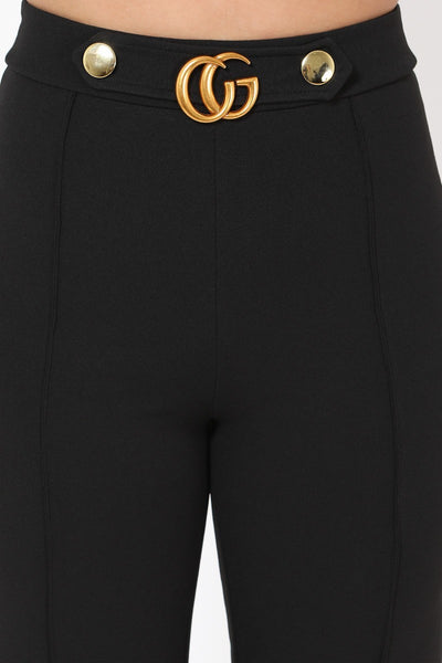 Cg Buckle And Button Detail Pants