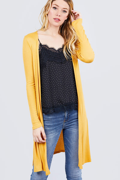 Side Slit Tunic Cardigan