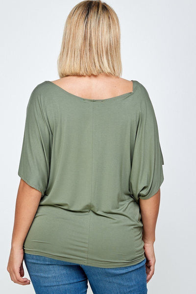 Solid Knit Top, With A Flowy Silhouette