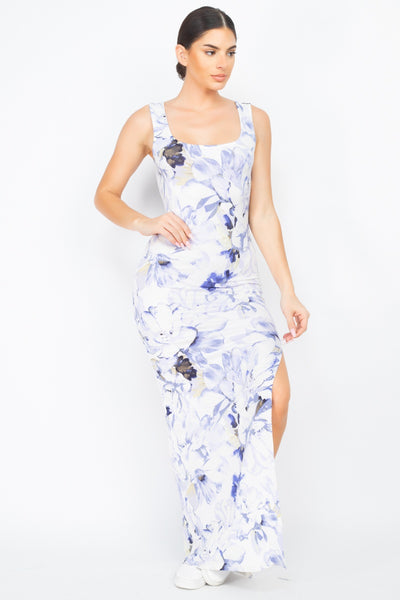Floral Silted Maxi Dress