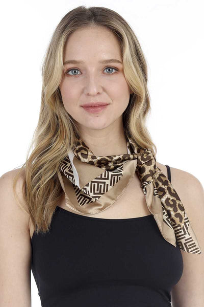 Fashion Leopard Pattern Print Neck Scarf