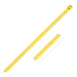5.0mm 14k Yellow Gold Classic Miami Cuban Bracelet