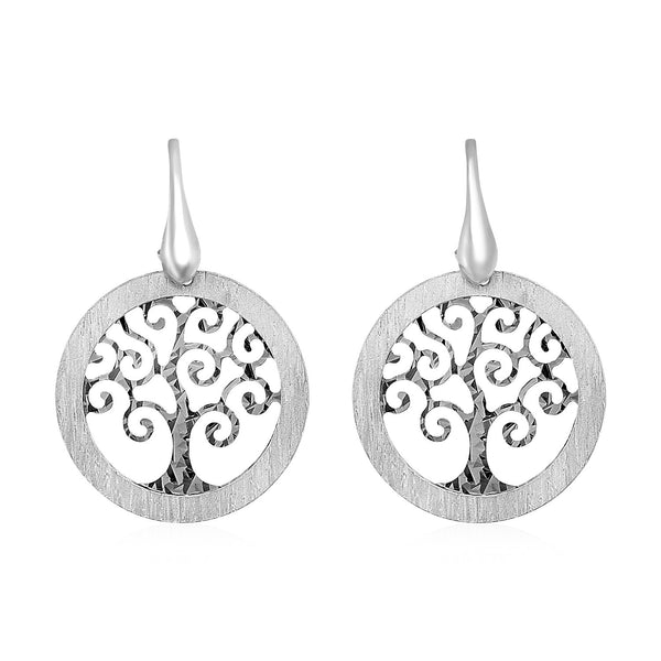Tree of Life Cutout Earrings in Sterling Silver
