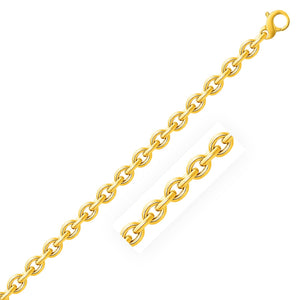 14k Yellow Gold Polished Cable Motif Bracelet