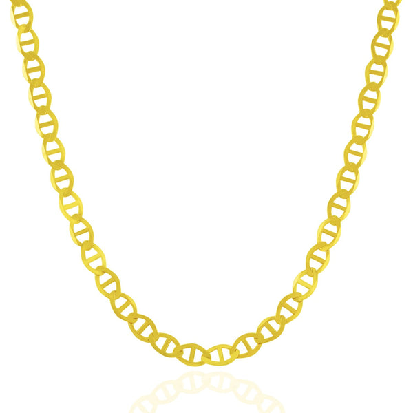 5.5mm 10k Yellow Gold Mariner Link Chain
