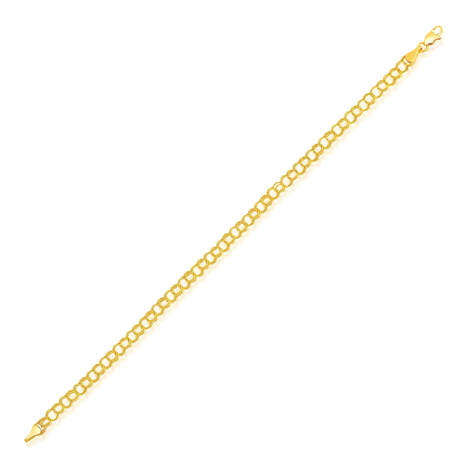 4.0 mm 14k Yellow Gold Lite Charm Bracelet