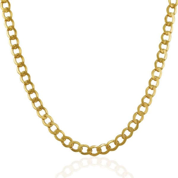 5.3mm 14k Yellow Gold Curb Chain