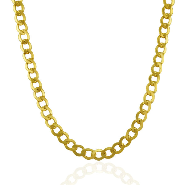 6.2mm 14k Yellow Gold Curb Chain