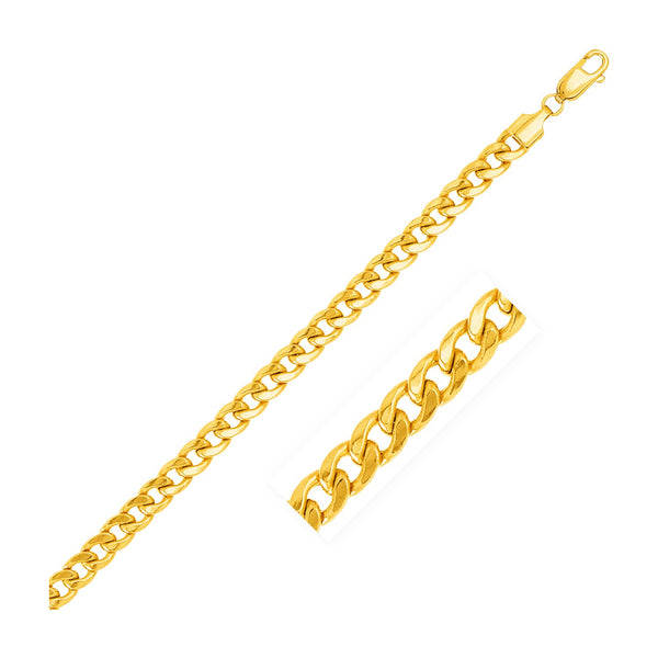 5.3mm 14k Yellow Gold Light Miami Cuban Bracelet