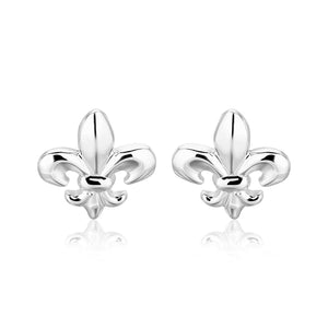 Sterling Silver Fluer De Lis Earrings