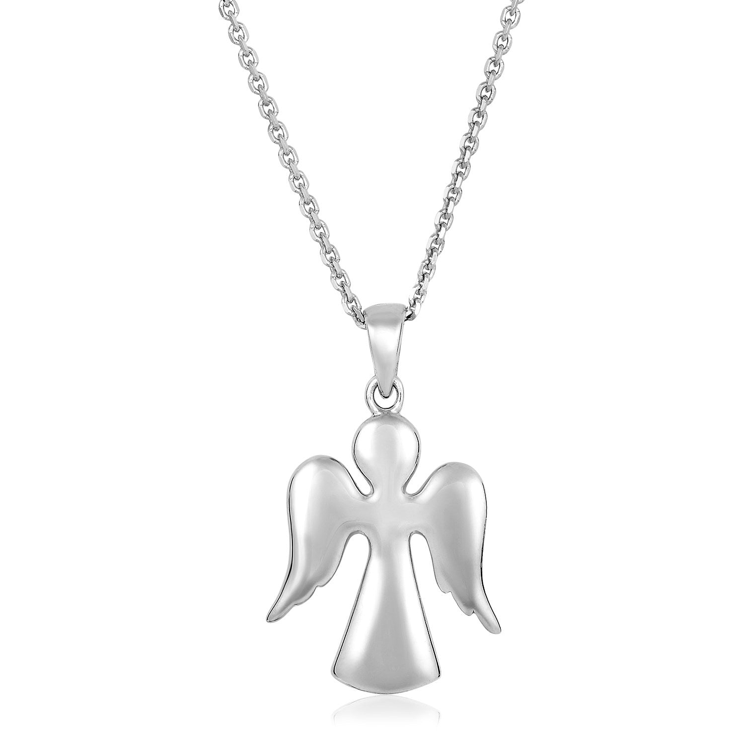 Sterling Silver Polished Angel Pendant