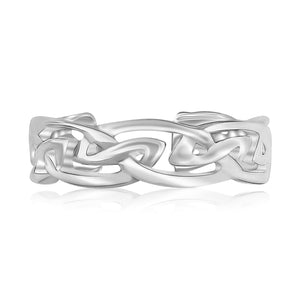 Sterling Silver Rhodium Plated Celtic Style Toe Ring