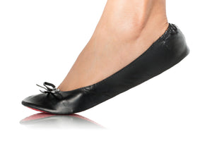MATTE BLACK BALLET FLATS-Shoes, Flats-Small: 5-7-MY UPSCALE STORE