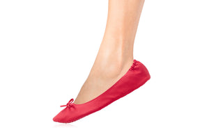 MATTE RED BALLET FLATS-Shoes, Flats-Small: 5-7-MY UPSCALE STORE