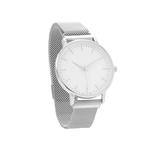 Silver Men's Mesh Magnetic Fashion Watch