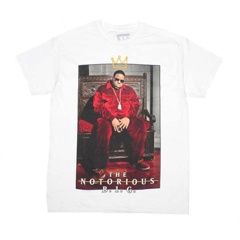 Notorious B.I.G. Biggie Crown Throne White T-Shirt