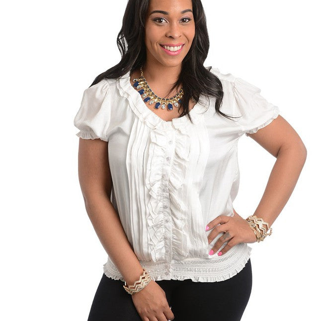IVORY TOP-Plus Sizes, Tops +-1XL-MY UPSCALE STORE