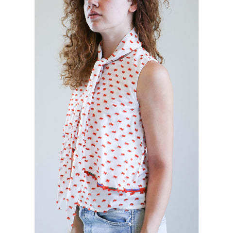 Where Mountains Meet Georgie Blouse in Tangerine