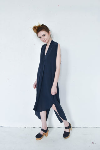 7115 By Szeki Silk Origami Dress