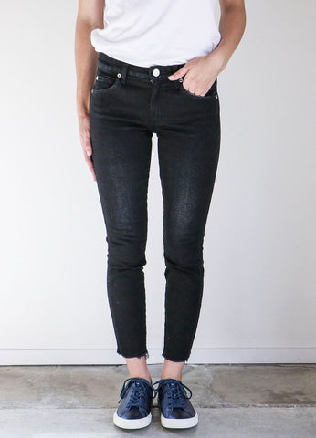 Amo Denim Stix Crop Jeans in Black Magic