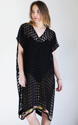 A Peace Treaty Sousa Caftan in Black