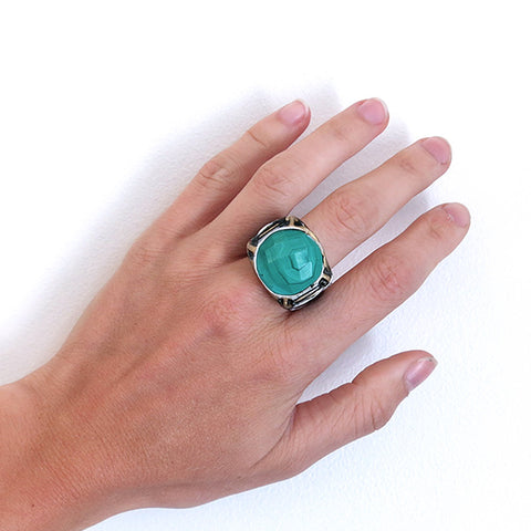 Adina Mills Malachite Ring