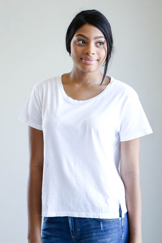 Amo Denim Twist Tee in White