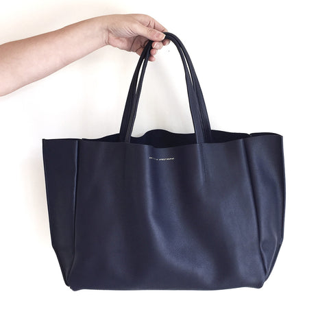 Ampersand as Apostrophe Sideways Tote in Midnight Blue