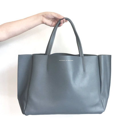 Ampersand as Apostrophe Sideways Tote Stiff in Steel Grey