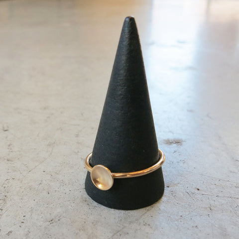 Another Feather 14k Gold Dish Ring