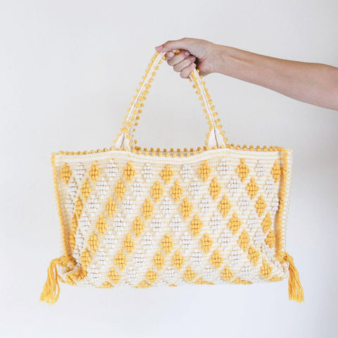 Antonello Medium Capricciolo Tote in Yellow