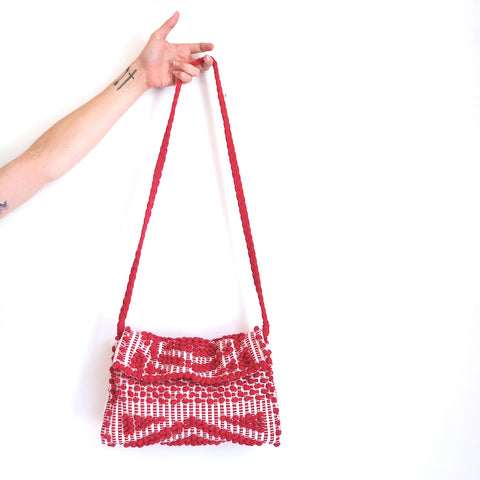 Antonello Suni Rombi Clutch in Red