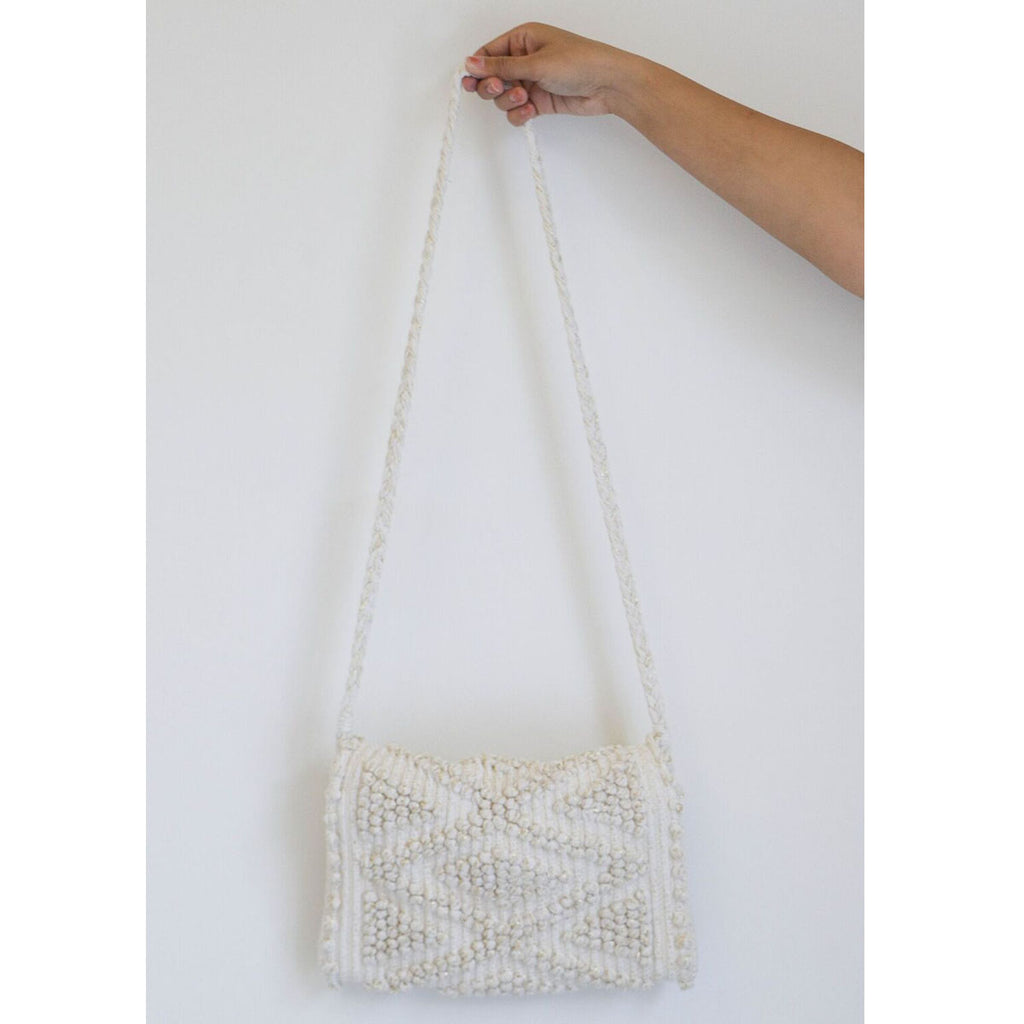 Antonello Suni Rombi Clutch in Gold + Cream