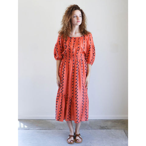 Apiece Apart Camellia One Shoulder Dress in Papaya Berber